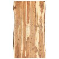 vidaXL Tampo de mesa 120x(50-60)x3,8 cm madeira de acácia maciça