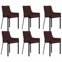 vidaXL Cadeiras de jantar 6 pcs tecido vermelho tinto