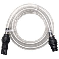 vidaXL Mangueira de sucção com conectores 4 m 22 mm branco