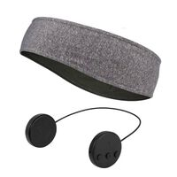 Faixa de cabeça com fones de ouvido e microfone Bluetooth - cinza