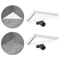 vidaXL Dreno de chuveiro com tampa 2 em 1 25x25 cm aço inoxidável