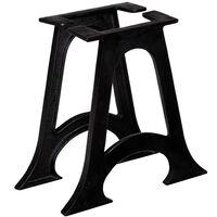 vidaXL Pernas mesa centro 2 pcs estrutura em A arqueada ferro fundido