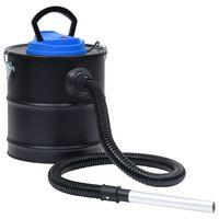 vidaXL Aspirador de cinzas com filtro HEPA 1200 W 20 L aço