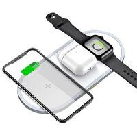 Carregador rápido sem fio para celular e Apple Watch