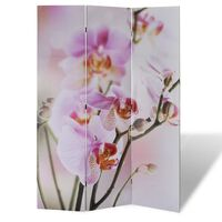 vidaXL Biombo dobrável com estampa de flores 120x170 cm