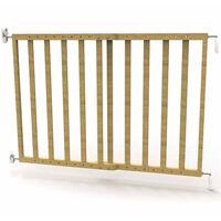 Noma Barreira de segurança extensível 63,5-106cm madeira natural 93729