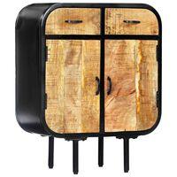 vidaXL Aparador 60x30x75 cm madeira de mangueira maciça e ferro