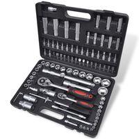 """Kit ferramentas-chaves remoção rápida de catraca, 94 pçs 1/2"""" & 1/4"""""""