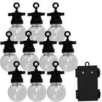 Luxform Conjunto luzes para festas de jardim com 10 LED Fiji
