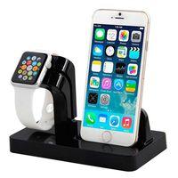 Estação de carregamento para iPhone 5/6/7/8 e Apple Watch - preto