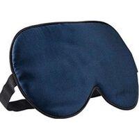 Máscara De Dormir - 100% Seda Pura - Azul Escuro