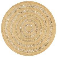 vidaXL Tapete artesanal em juta trançada 150 cm
