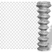 vidaXL Cerca de arame 25x1 m aço galvanizado prateado