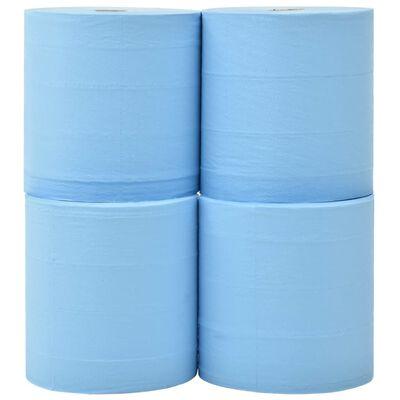 vidaXL Papel de limpeza industrial folha tripla 4 rolos 26 cm