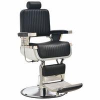 vidaXL Cadeira de barbeiro 68x69x116 cm couro artificial preto