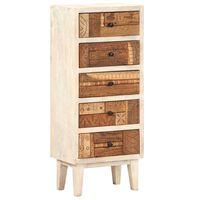 vidaXL Armário de gavetas 45x30x105 cm madeira recuperada maciça
