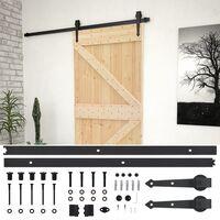 vidaXL Porta de correr com ferragens 100x210 cm madeira de pinho maciça