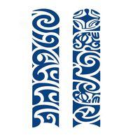Fingir Tatuagem Com 2 Motivos Diferentes Azul