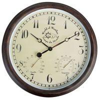 Esschert Design Relógio estação met. c/ termo-higrómetro 30,5 cm TF008