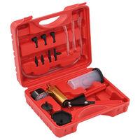 vidaXL Kit de sangrador de travão e bomba de vácuo