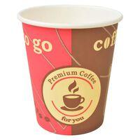 vidaXL Copos de café descartáveis 1000 pcs papel 240 ml (8 oz)