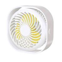 Ventilador De Mesa Recarregável Com 3 Velocidades Branco