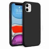 Capa de silicone líquido para iPhone 11 - preta