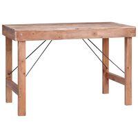 vidaXL Mesa de jantar 120x60x80 cm madeira recuperada maciça