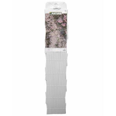 Nature Treliça de jardim 100x300 cm PVC branco
