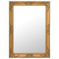 vidaXL Espelho de parede estilo barroco 60x80 cm dourado