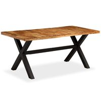 vidaXL Mesa de jantar madeira maciça de mangueira e acácia 180x90x76cm