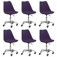 vidaXL Cadeiras de jantar 6 pcs couro artificial roxo
