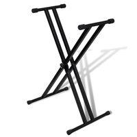 Suporte para Teclado Musical em X Duplo Ajustável