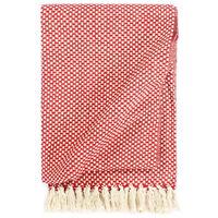 vidaXL Manta em algodão 160x210 cm vermelho
