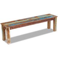 vidaXL Banco 160x35x46 cm madeira reciclada maciça