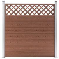 vidaXL Painel de vedação para jardim 180x185 cm WPC castanho