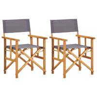 vidaXL Cadeiras de realizador 2 pcs madeira de acácia maciça