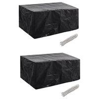 vidaXL Conjunto capas p/ mobiliário jardim 2 pcs 8 ilhós 180x140 cm