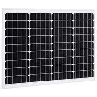 vidaXL Painel solar 50 W alumínio monocristalino e vidro de segurança