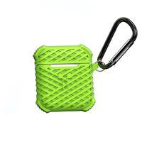 Caixa Airpods Em Silicone - Verde