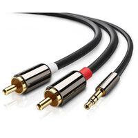 3,5 mm para cabo de áudio estéreo RCA - 1 m