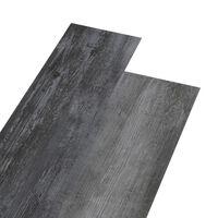 vidaXL Tábuas de soalho PVC 5,26 m² 2 mm cinzento lustroso