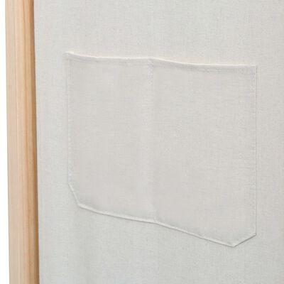 vidaXL Divisória de quarto com 3 painéis 120x170x4 cm tecido creme