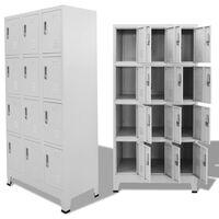 vidaXL Cacifo com 12 compartimentos 90x45x180 cm