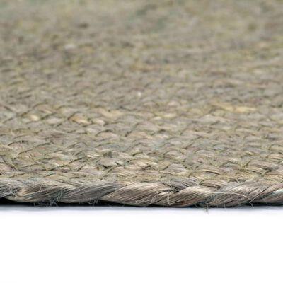 vidaXL Individuais de mesa 6 pcs juta liso 38 cm redondo cinzento