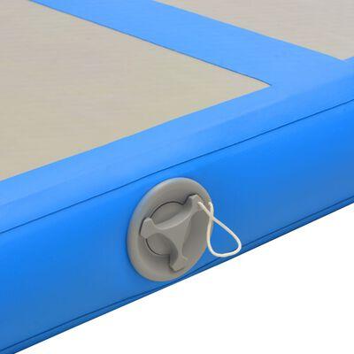 vidaXL Colchão de ginástica insuflável c/ bomba 700x100x10 cm PVC azul