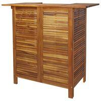 vidaXL Mesa de bar 110x50x105 cm madeira de acácia maciça
