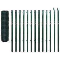 vidaXL Cerca 25x1,7 m aço verde
