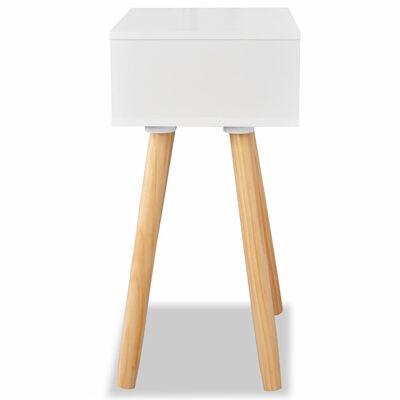 vidaXL Mesas de cabeceira 2 pcs pinho maciço 40x30x61 cm branco
