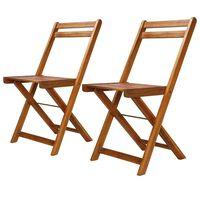 vidaXL Cadeiras bistrô de exterior 2 pcs madeira de acácia maciça